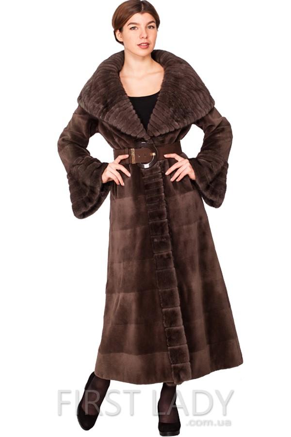 Норковое пальто с капюшоном киев